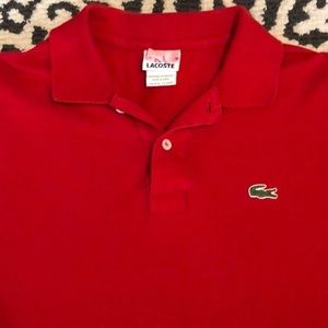 Lacoste Medium size 5 red polo